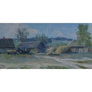 картина маслом, Весна в Селезівці, Федоренко Євген