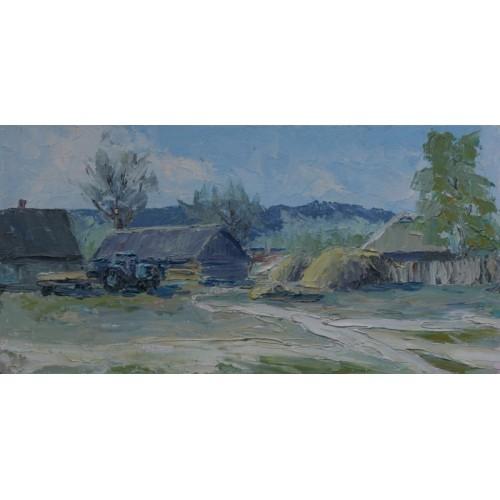 картина маслом, Весна в Селезевке, Федоренко Евгений