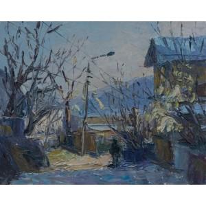 картина масло, Улица Олеговская, Федоренко Евгений
