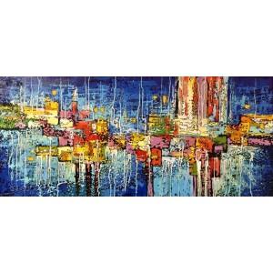 картина акрил, В голубом пространстве, Шевченко Юрий и Люба