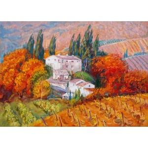картина маслом, Під сонцем Тоскани. Андрєєва Ірина