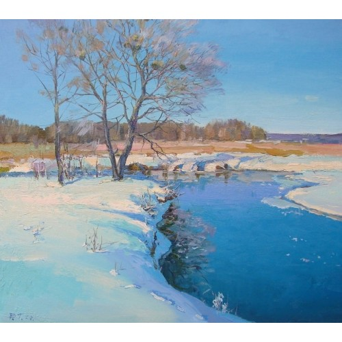 картина маслом, Зимний день. Грицина Виктор
