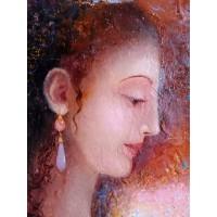 картина маслом, Измерение мудрости, Лицо женщины, Мацегора Елена