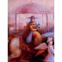 картина маслом, Путешествие на Восток, На лошади, Мацегора Елена