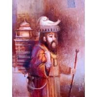 картина маслом, Путешествие на Восток, Утка, Правитель, Посох, Мацегора Елена