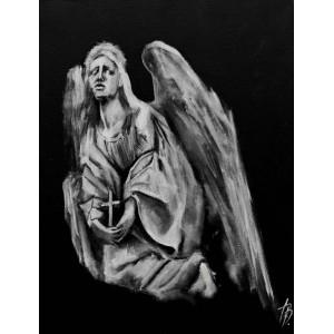 картина акрил, Ангел спасения Звольская Вика