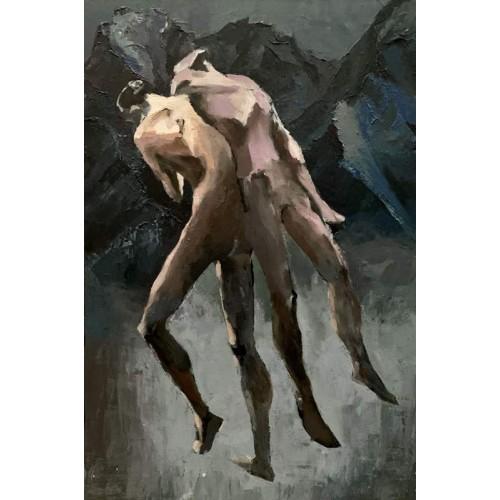 картина акрил, Своя ноша, Звольская Вика