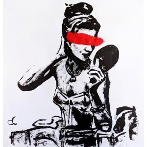 картина акрил, Black Red, Ет Симия