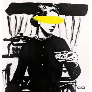 картина акрил, Black Yellow, Ет Симия
