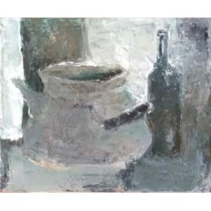картина, Глиняный кувшин и бутылка, Штепура Елена