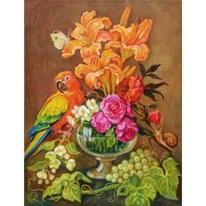 Натюрморт с попугаем