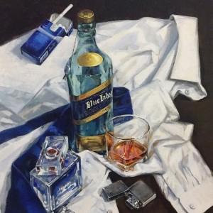 Натюрморт с синим галстуком