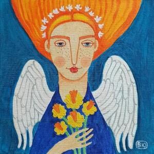 Ангел с нарциссами