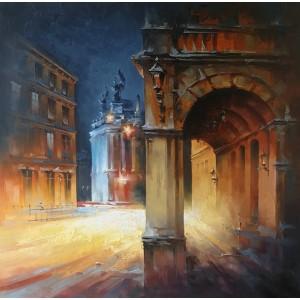 Огни вечернего Львова