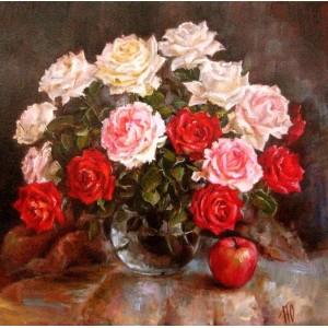 Розовые и красные розы