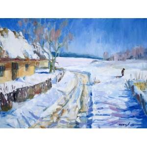 Зимняя деревня