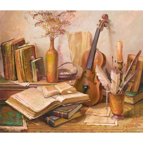 Натюрморт с книжками