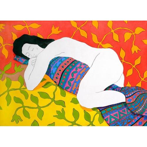 Спящая с одеялом