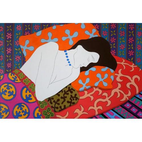 Спящая с бусами
