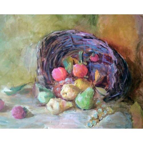 Натюрморт с корзинкой фруктов