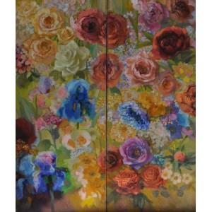 Цветочные ассоциации, диптих