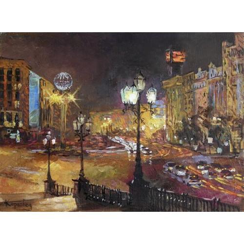 Вечерний Киев. Европейская площадь