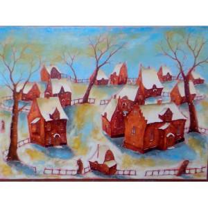 Голландский дворик зимой