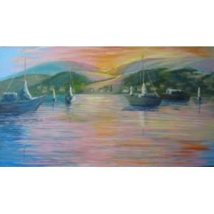 Лодки на закате