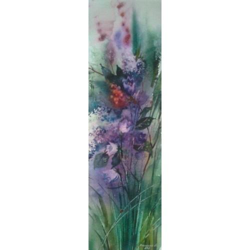 Утренние травы, акварель