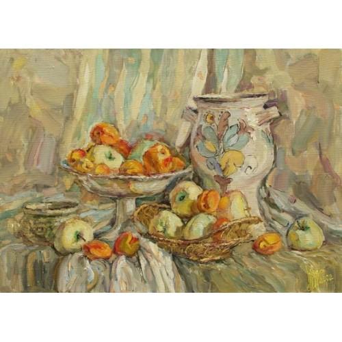 Белый налив и абрикосы