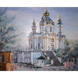 Весна. Андреевский спуск. Киев