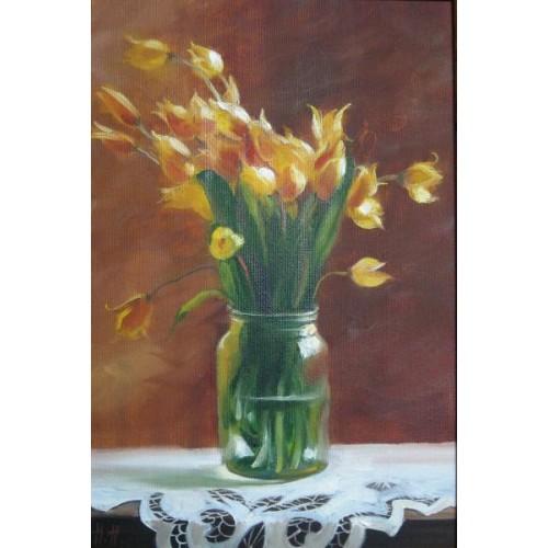 Тюльпаны на скатерке
