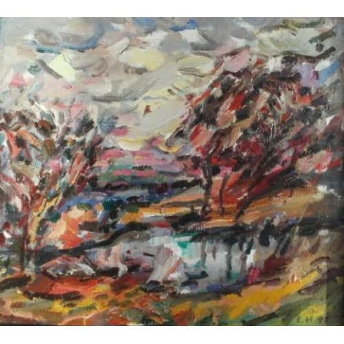 Осенний пейзаж картины художников