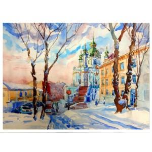 Киев. Андреевский. Снегопад