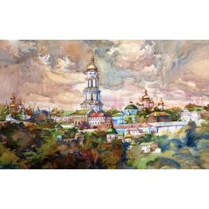 Панорамный вид на Лавру