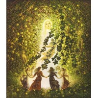 картина маслом, Apple girl, Яблочная девушка, Миколайчук Владимир