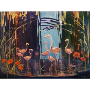 Фламинго- палитра