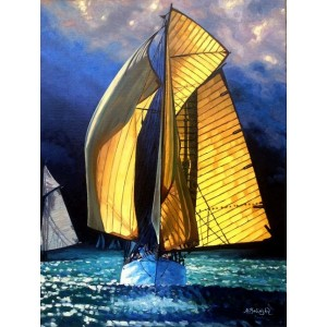 Желтая яхта