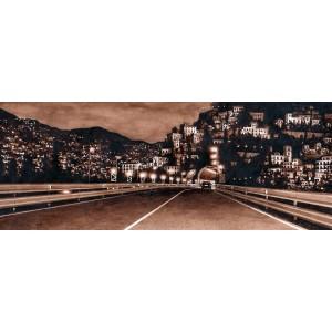 картина маслом, Strada Adriatica  (Адриатическая дорога), городской пейзаж