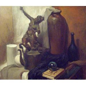 Натюрморт с бронзовой статуэткой