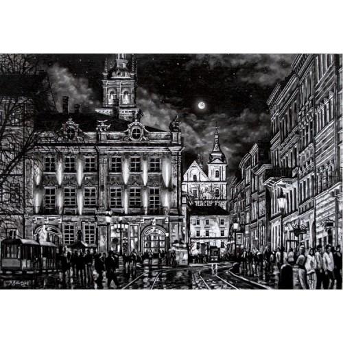 Rynok Square. Diana. Lviv