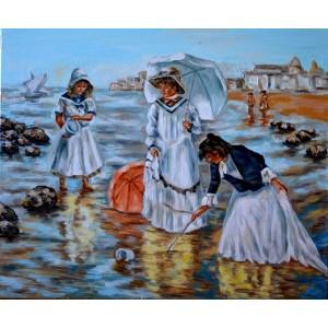 Женский отдых на морском берегу