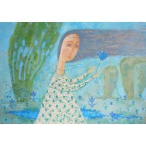 Вітер на синьому озері