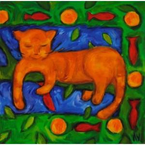Сны кота на апельсиновом...
