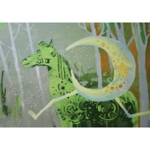 Луна и зеленая лошадь
