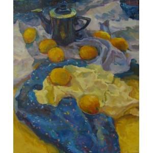 Лимоны и синий чайник