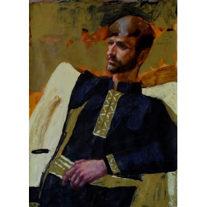Бравый, картина портрет, гуцул