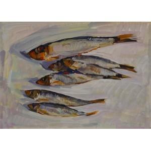 Рыбки на белом