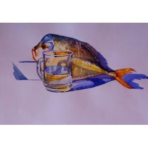 Натюрморт с рыбкой