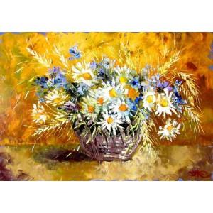 Польові квіти в кошику